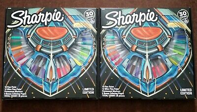 2 Packs - 2019 Limited Edition 30ct Sharpie Permanent Fineultra Fine Marker Set