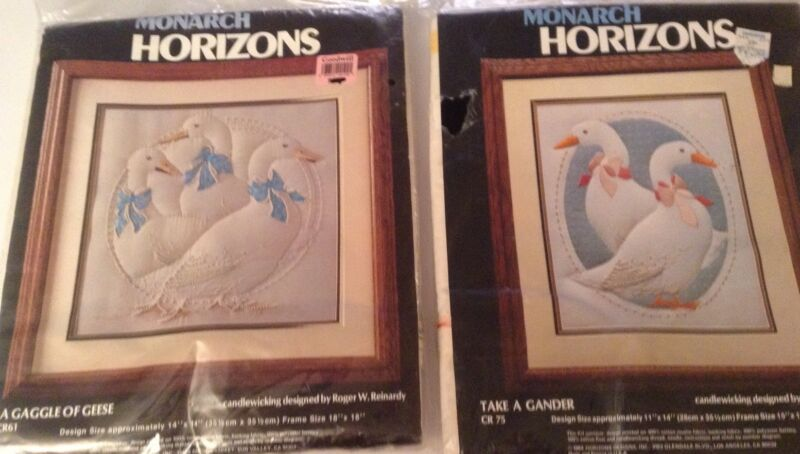 "Monarch Horizons Lot of 2:""A Gaggle of Geese"" and ""Take A Gander"""