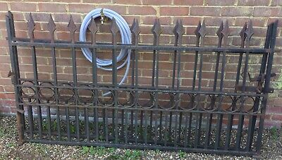 Wrought Iron Spear Head Railing Fence Driveway Pair Gates + Path Garden Gate