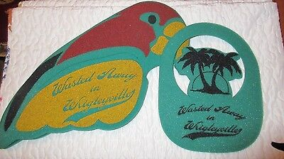 "JIMMY BUFFETT. ""2"" HATS FROM HIS 2006 WRIGLEYVILLE CONCERT. VISOR & ""PARROT"" HAT"
