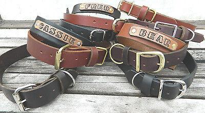Handmade Leather Dog Collar 1 1/4