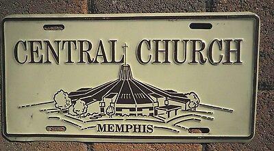 Original Central Church License Plate / NICE insert - Memphis, Tenn