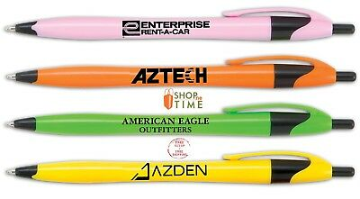 Personalized Pens Printed W/ Company Name / Logo / Text  In 1 Color / 250 QTY Personalized Logo Pens