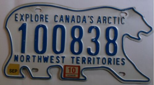 2010 NORTHWEST TERRITORIES CANADA* FREE USPS SHIPPING License Plate 100838