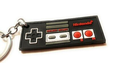 (NEW) Nintendo game controller Keychain SMB NES Retro Gaming Mario Brothers USA - Gaming Keychains