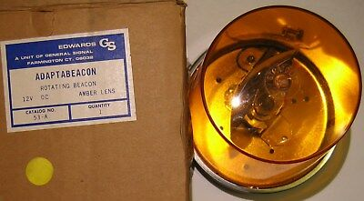 General Signal 53-a Adaptabeacon Rotating Beacon Amber Stratolite 79 Lens