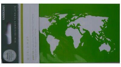 "Kaisercraft MINI Stencil template 3.5"" x 5.75"" WORLD MAP"
