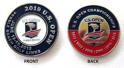 2019 US OPEN @ PEBBLE BEACH CC, LARGE, Embrossed MondoMark and BALL MARKER