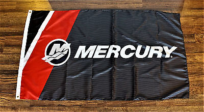 Mercury Engines Banner Flag Boat Racing Boating Advertising Marina Yacht New