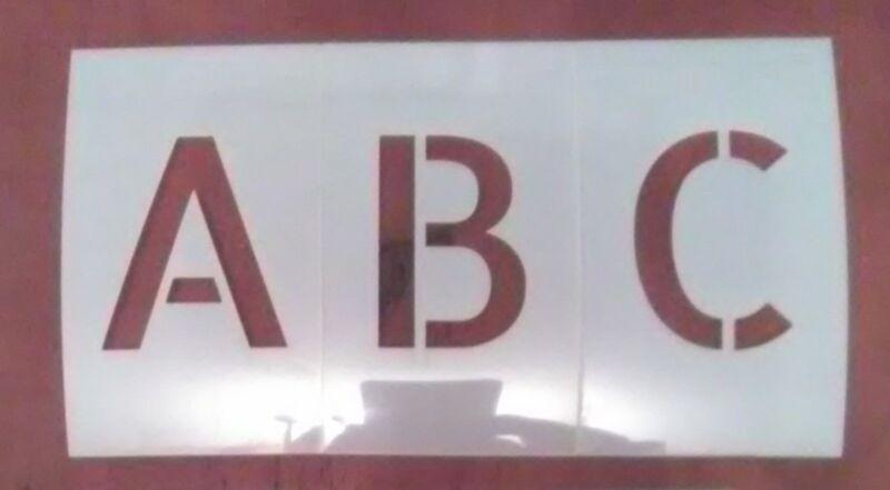 2 inch Uppercase Allerta Alphabet Stencil - Letters -