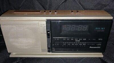 Vintage PANASONIC Dual Wake-Up RC-6310 Clock Radio WORKS