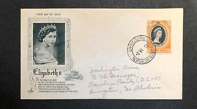 Northern Rhodesia 1953 Coronation FDC First Day cover