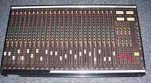 SoundCraft vintage 24-channel mixer board
