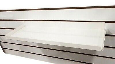 Slatwall Heavy Duty Steel Metal Shelf Ivory 15.5 L Rx - 5 Pieces