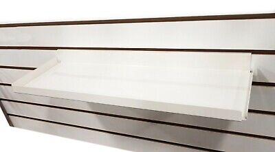 Slatwall Heavy Duty Steel Metal Shelf Ivory 15.5 L Rx - 5 Pieces