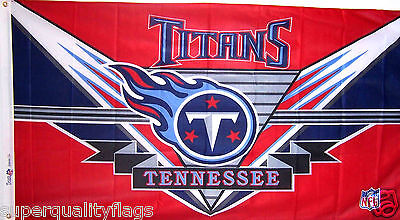 Tennessee Titans Nfl End - NEW 3 X 5 ft TENNESSEE TITANS END ZONE DESIGN LISCENSED NFL BANNER FLAG RARE
