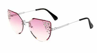 Pink Rimless Cat-Eye Sunglasses for women, with (Women With Cat Eyes)