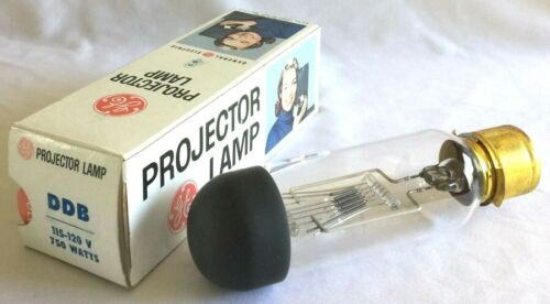 G.E. DDB PROJECTOR LAMP : NEW OLD STOCK : 750W - 120V