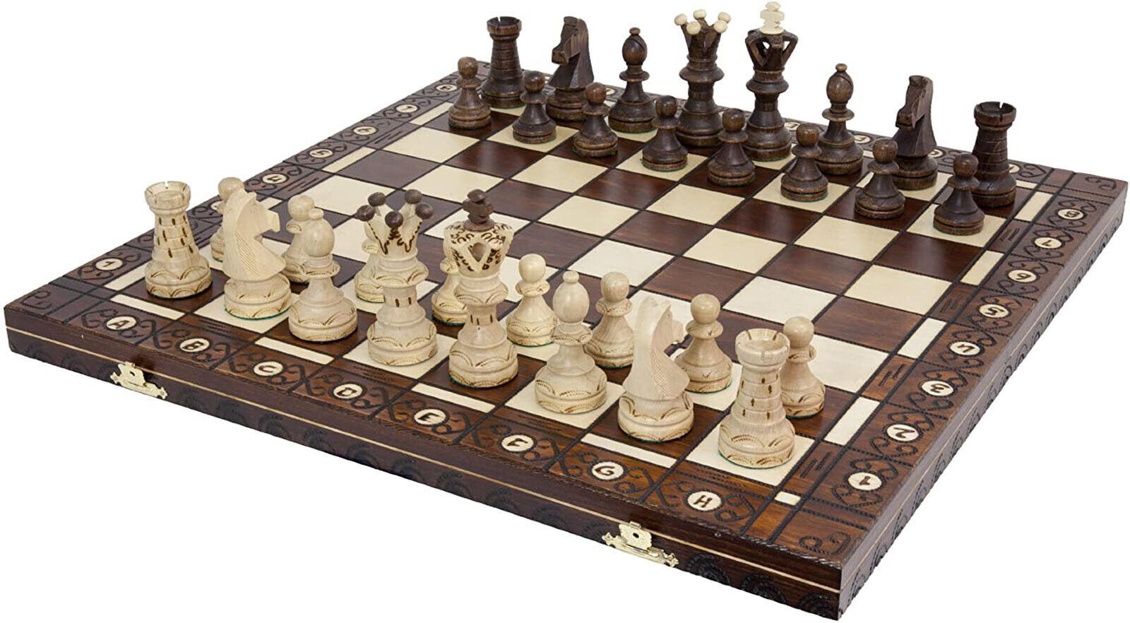 Buy Best Large Handmade Wooden 21 Inch Chess Set.