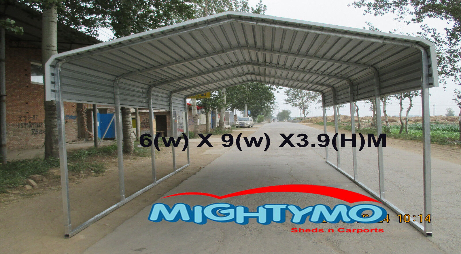LARGE STEEL Carport, Shelter 6 x 9M Double Portable ...