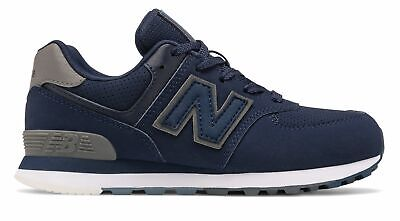 New Balance Kid's 574 Little Kids Male Shoes Navy with White