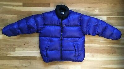 North Face 700 Down Jacket XL Nuptse Puffy Coat Puffer Blue 90s VTG
