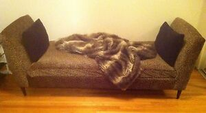 Cheetah Print Backless Couch For Sale
