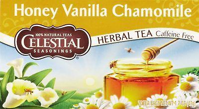 Celestial Seasonings White Caffeine Free Tea (Celestial Seasonings Herbal Tea Caffeine Free Honey Vanilla Chamomile 20 CT (3)