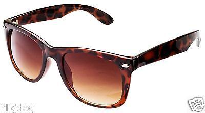 (Large Sunglasses Brown Tortoise Frame Gradient Brown Lenses )