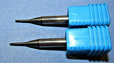 New Harvey Tool Carbide Long Reach Ball End Mills Nano Coated 0.078 Dia. 2pcs