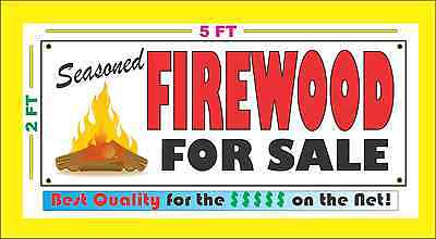 SEASONED FIREWOOD FOR SALE Full Color Banner Sign NEW Best Quality for the (Best For Sale Signs)