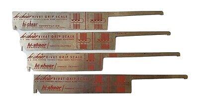 Rivet Grip Scale - Vintage Hi-shear Corporation. Set Of 4 Pre Owned.