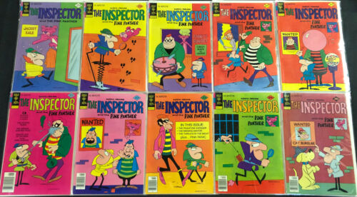 GOLD KEY THE INSPECTOR + PINK PANTHER COMIC LOT 10PC (F-VF)