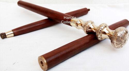 Brass+Handle+Designer+CanesAntique+Wooden+Walking+Stick+Vintage+Nautical+Canes