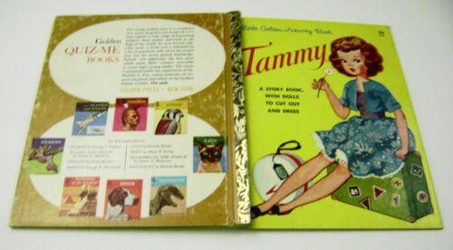 VTG PAPER DOLLS 1963 TAMMY LITTLE GOLDEN ACTIVITY BOOK art ADA SALVI UNCUT!!!!!!