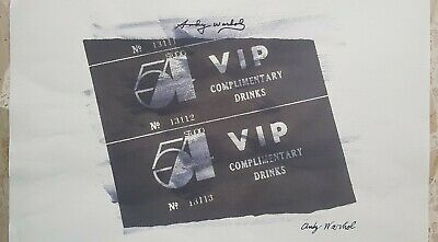 Parentesigrafica presenta: ANDY WARHOL - VIP complimentary drinks (A2021/L022)