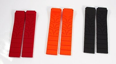 Red Rubber Strap (Silicone Rubber Strap Band for Tissot Sport Watch T-Race 21mm- Orange-Red-Black)