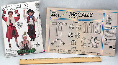 Kid Boxer Halloween Costumes (McCall's 4461 Uncut Halloween Costume Pattern Pirate Boxer Children Sizes 10,)