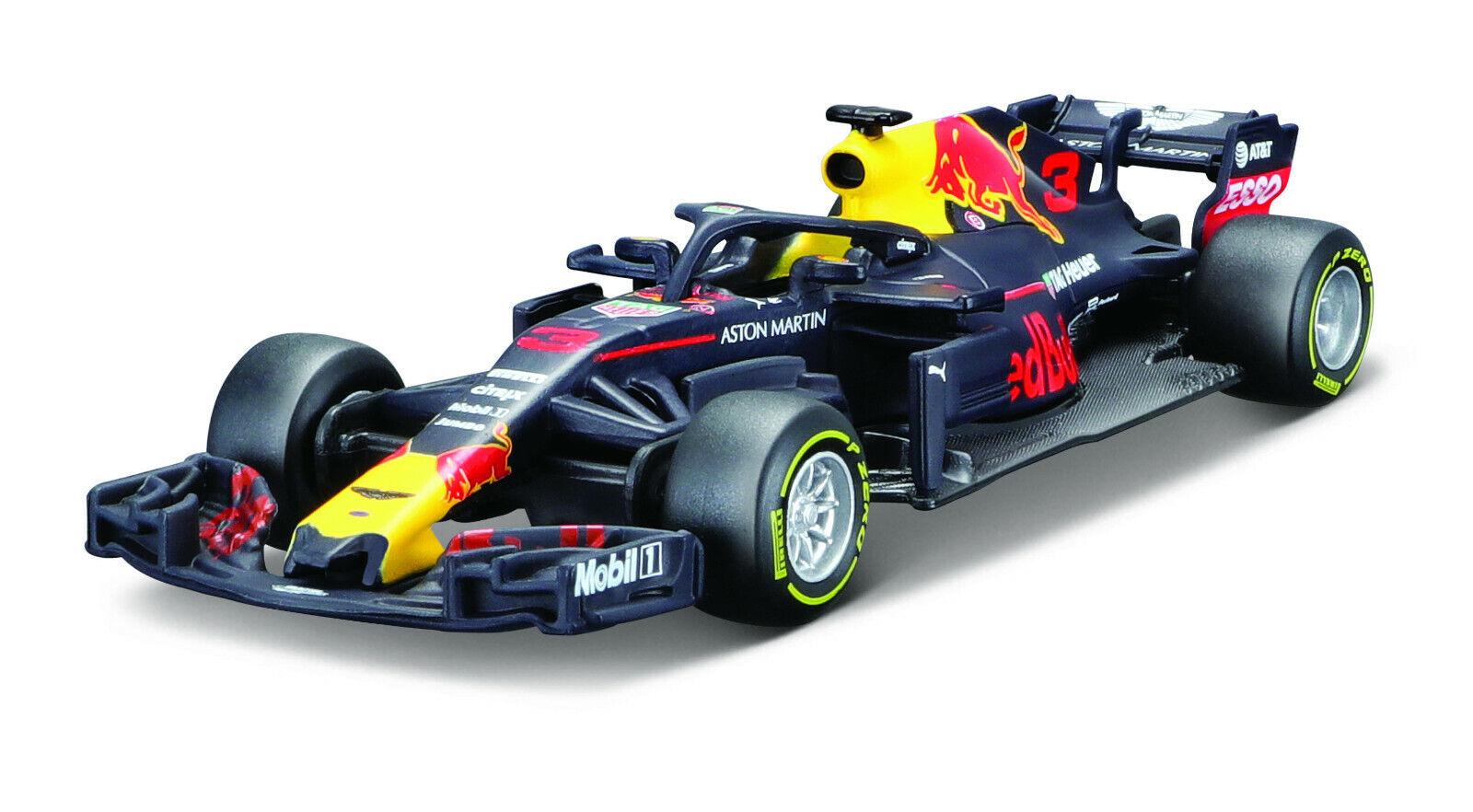 BBURAGO 1:43 Aston Martin Red Bull RB14 FORMULA F1 Daniel Ri