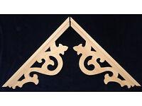 "L/&G/'s Victorian Gingerbread Fretwork Porch or  Corner Trim Bracket 12/"""