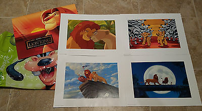 DISNEY STORE THE LION KING SPECIAL EDITION LOT OF 4 LITHOGRAPH PRINTS IN FOLDER
