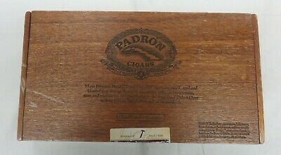 padron Series 2000 Wooden Flip Top Cigar Box - Hand Made of Wood