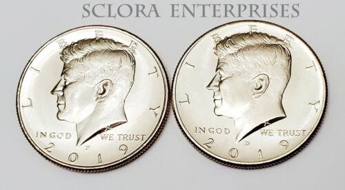 2019 P & D Kennedy Half Dollar Set (2 Coins) *BU - UNCIRCULATED* *FREE SHIPPING*