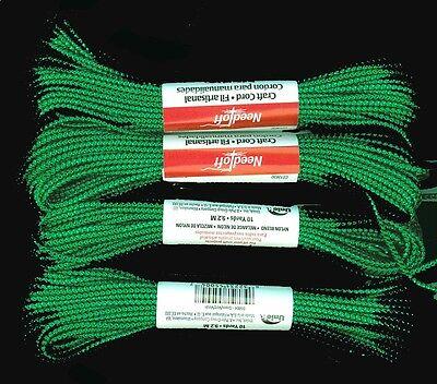 Needloft Green Metallic Craft Cord 4 Pk (40 Yd Total)