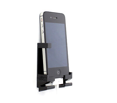 Dockem iPhone & Tablet Wall Mount - Damage free setup and removal (black)