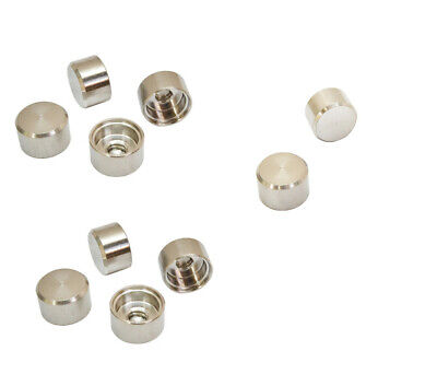 Set Of 10 Pcs SS T316 1/4 Inch-20 Thread Flat Dome RH End Cap For Jam Nut Marine