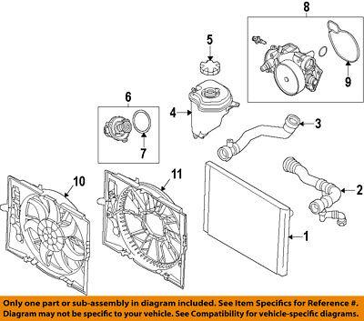 BMW OEM 10-15 760Li-Radiator Cooling Fan Motor 17117601909
