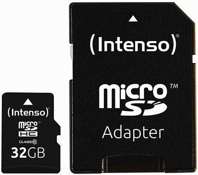 Intenso Micro SDHC Karte 32GB Speicherkarte Class 10