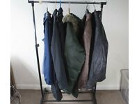 x6 Job Lot Six Men's Jackets Coats Including Leather Fashion Sport, Some Repairs