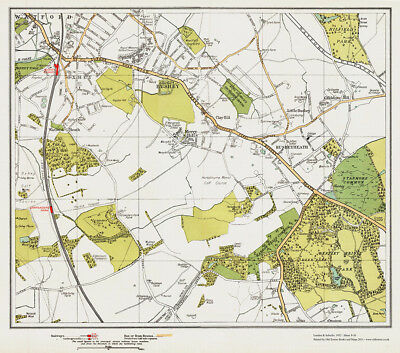 Watford (SE), Bushey Map London 1932 #9-10